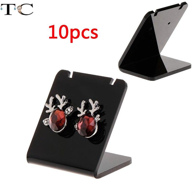 Acrylic Jewelry Rack Earring Stand Holder Ear Studs Storage Organizer Earrings Display Holder L Shape Display 10pcs/lot