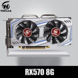 Video Thẻ RX 570 DirectX 12 8GB 256-Bit GDDR5 RX 570 PCI Express 3.0X16 Dp HDMI DVI Sẵn Sàng Cho AMD Card Đồ Họa GeForce Trò Chơi