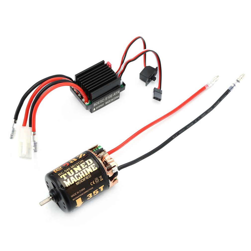 RC 540 35T 45T 55T Brushed Motor With 320 Speed Controller Waterproof ESC For RC Car Rock Crawler Axial SCX10 Model