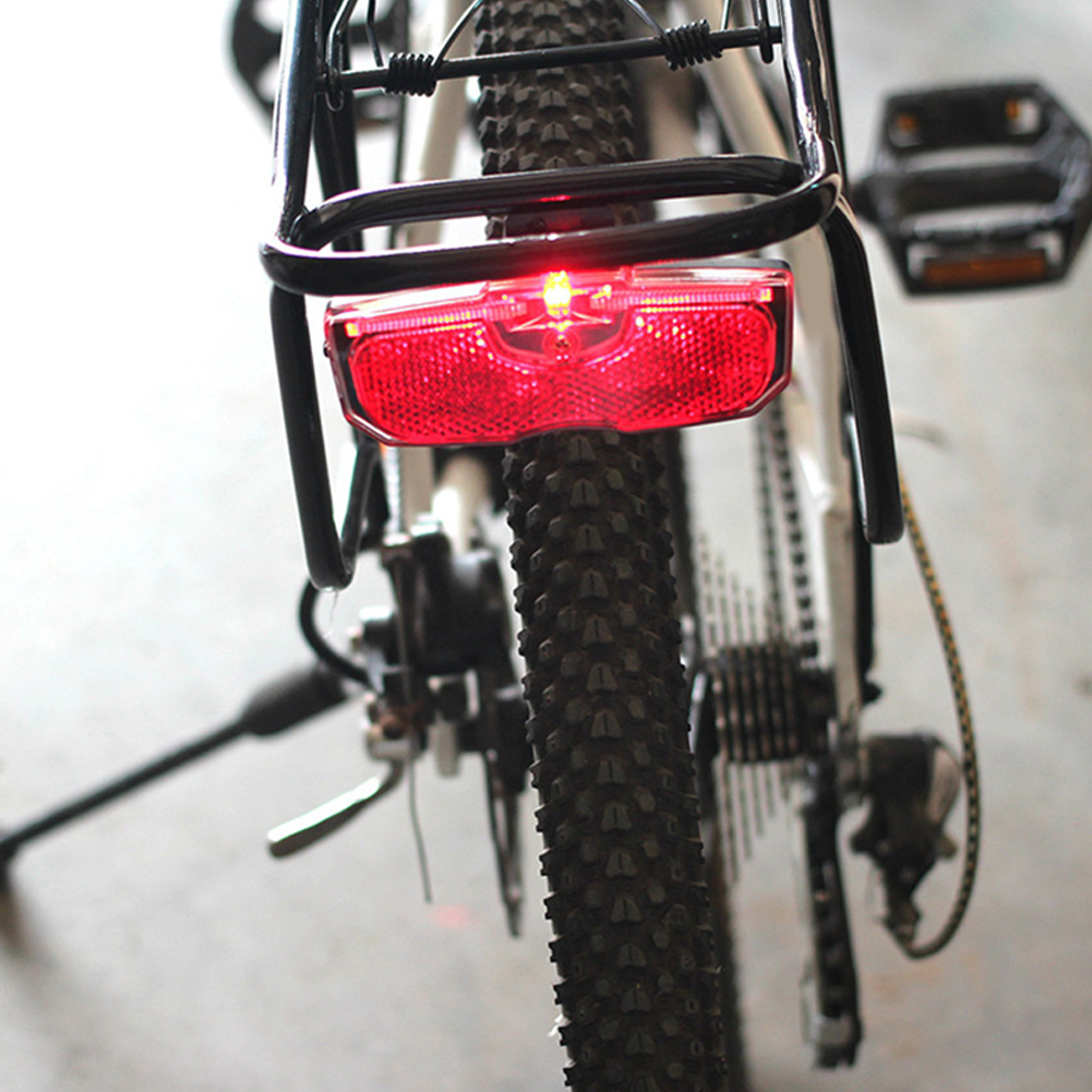 Bike Cycling Bicycle Rear Reflector Tail Light For Luggage Rack NO Battery Aluminum Alloy Reflective Taillight Accessories