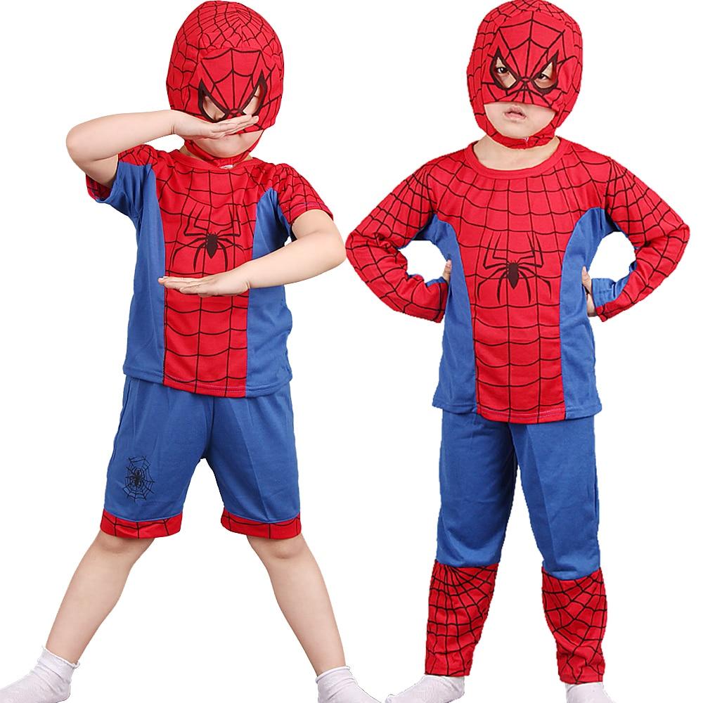 Halloween Spinnen Rot Mann Maske Kostüm Schwarz Spiderboy Kostüme Kinder Superhero Capes Anime Cosplay Karneval Kostüm Baby Geschenk