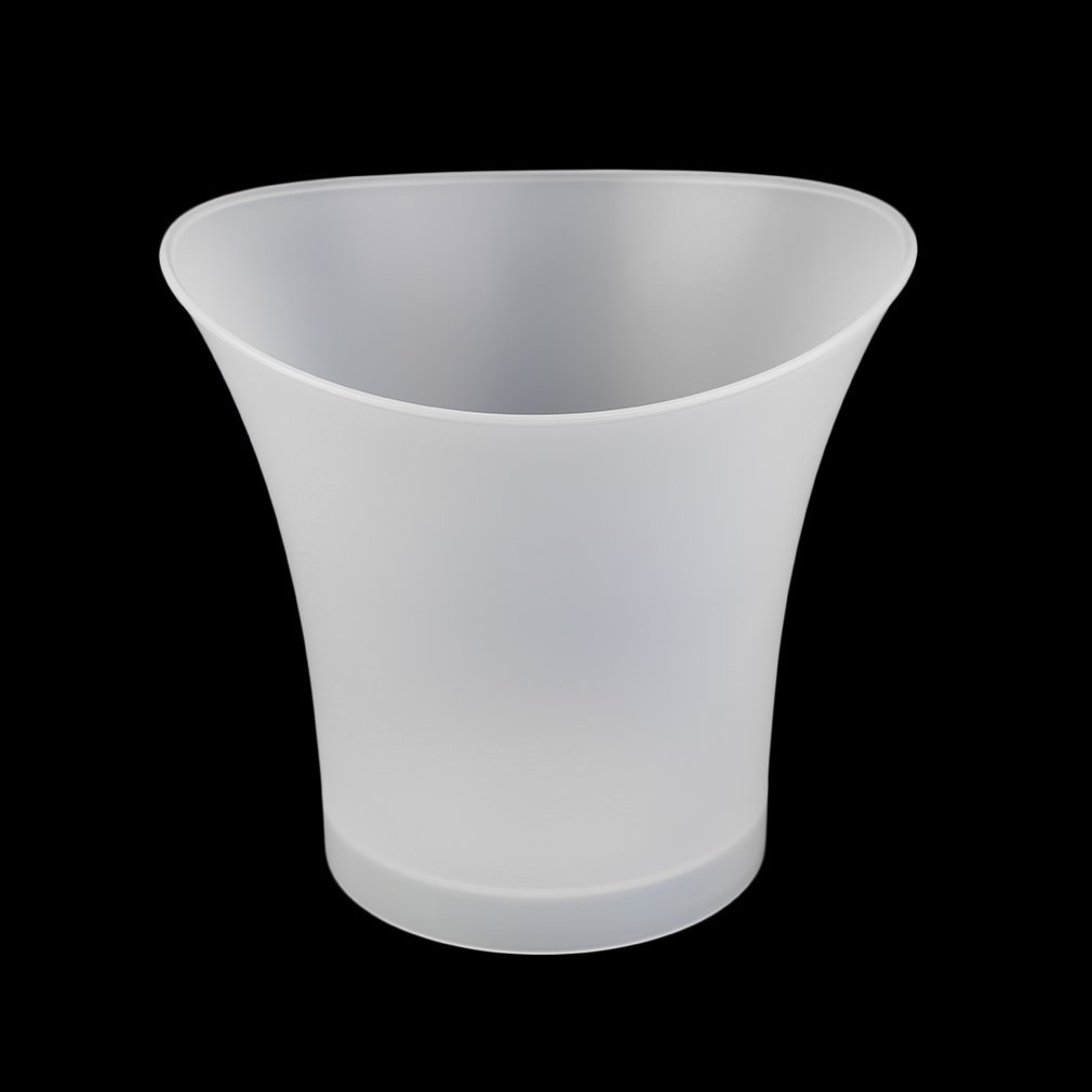 5L Waterproof LED Ice Bucket With Color Light Flashing Cool Bars Nightclubs LED Night Party Champagne Beer Bucket Free Shipping