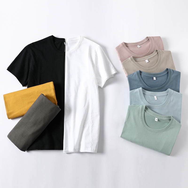 2021 Brand New Spring Summer Men's Pure Color T-shirt Cotton Fashion Causal Classic High Quality Loose Tees 4XL T-shirt 2