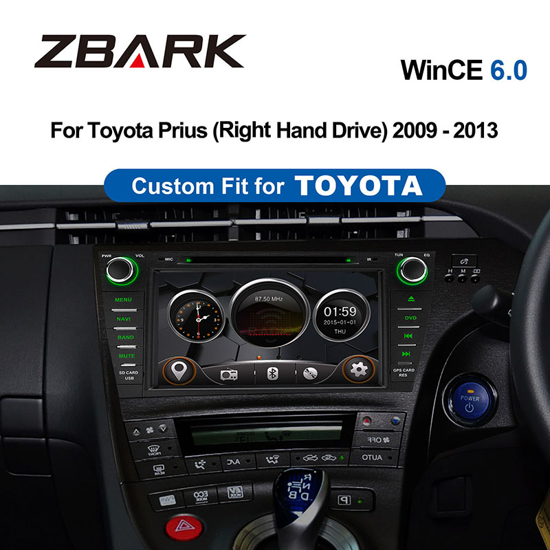 8 inch 2 din wince <font><b>Car</b></font> DVD Player Radio GPS navigation for <font><b>Toyota</b></font> Prius Right Hand <font><b>Drive</b></font> 2009 2010 2011 2012 2013 YHPRS801Y image