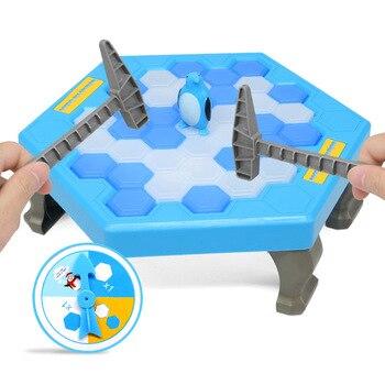Save Penguin Ice-Breaking Taiwan Game Cartoon Beat Penguin Building Blocks Children Parent And Child Interactive Educational Tab