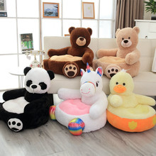 Pillow Seat Sofa-Chair Teddy Stuffed-Cushion Unicorn Plush-Toys Duck Bear-Panda Adult