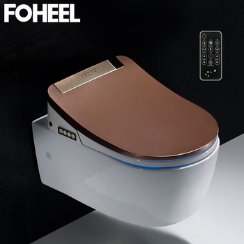 FOHEEL high quality smart toilet seat cover electronic bidet clean dry heating wc intelligent led light - discount item  39% OFF Bathroom Fixture