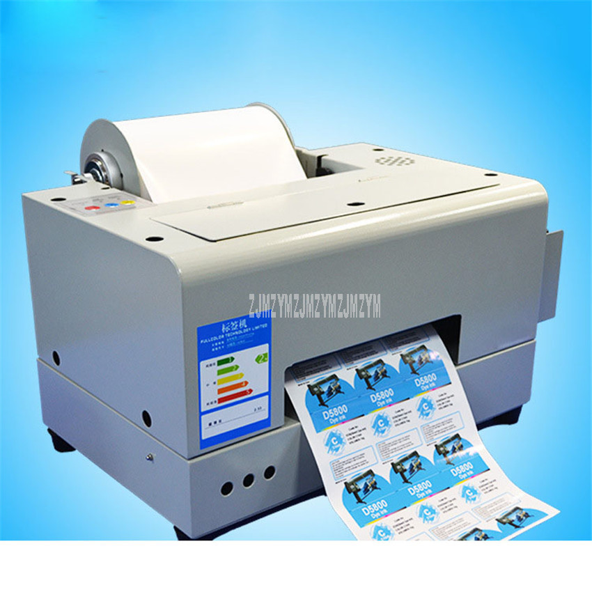 A4 Size Color Inkjet Printing Machine Washing/Self-adhesive Label Adhesive Sticker Automatic Color Inkjet Printer VNC-AL1414