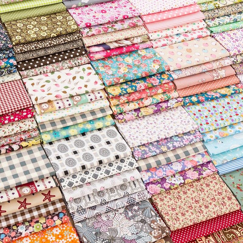 Материал ручной работы, хлопковая ткань с принтом, винтажный цветочный узор, швейная ткань для рукоделия, 50*50 см/шт. TJ0537