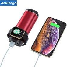3 In1 kablosuz şarj güç banka iPhone AirPods Apple İzle serisi 4/3/2/1 5200mAh güç banka taşınabilir cep telefonu şarj cihazı