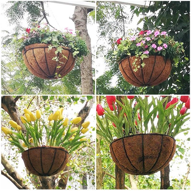 Ручная работа растение вешалка кокос овощи цветок горшок корзина для стены декор двор сад вешалка кашпо вешалка корзина