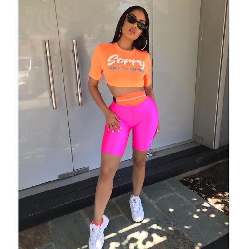 Summer Womens Biker Shorts Dance Workout Sports Nylon Hot Sportswear Shorts Solid Color Female Ladies Shorts