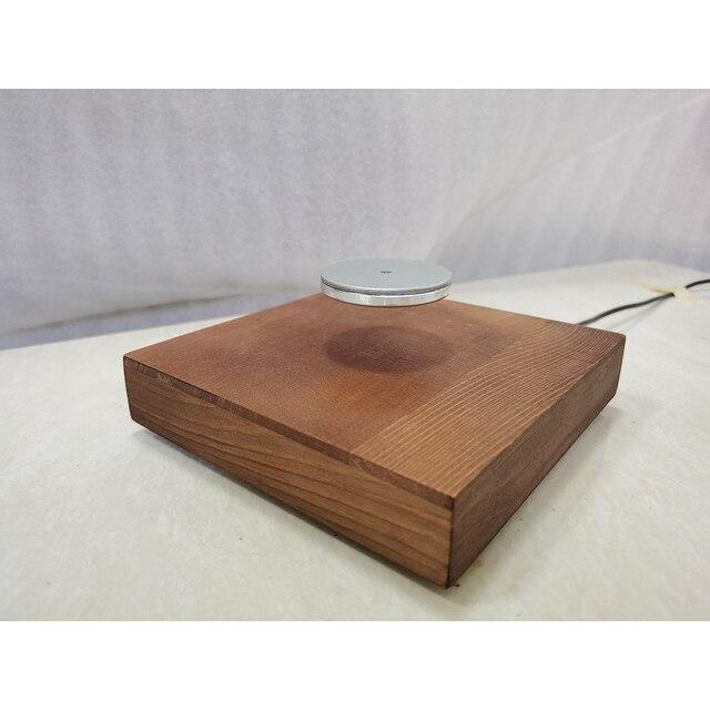 Carcasa de madera con peso de carga de 500g, levitación magnética con H3 005 de lámpara LED