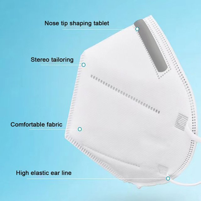 Breathable KN95 Respirator Filter Protection Dust Respirator Light And  Breathable  Respirator Fresh 3D Fitting  1 Pcs 4