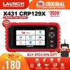LAUNCH X431 CRP129X OBD2 자동 코드 리더 자동차 진단 도구 재설정 진단 스캐너 자동차 엔진 ABS SRS AT PK CRP129