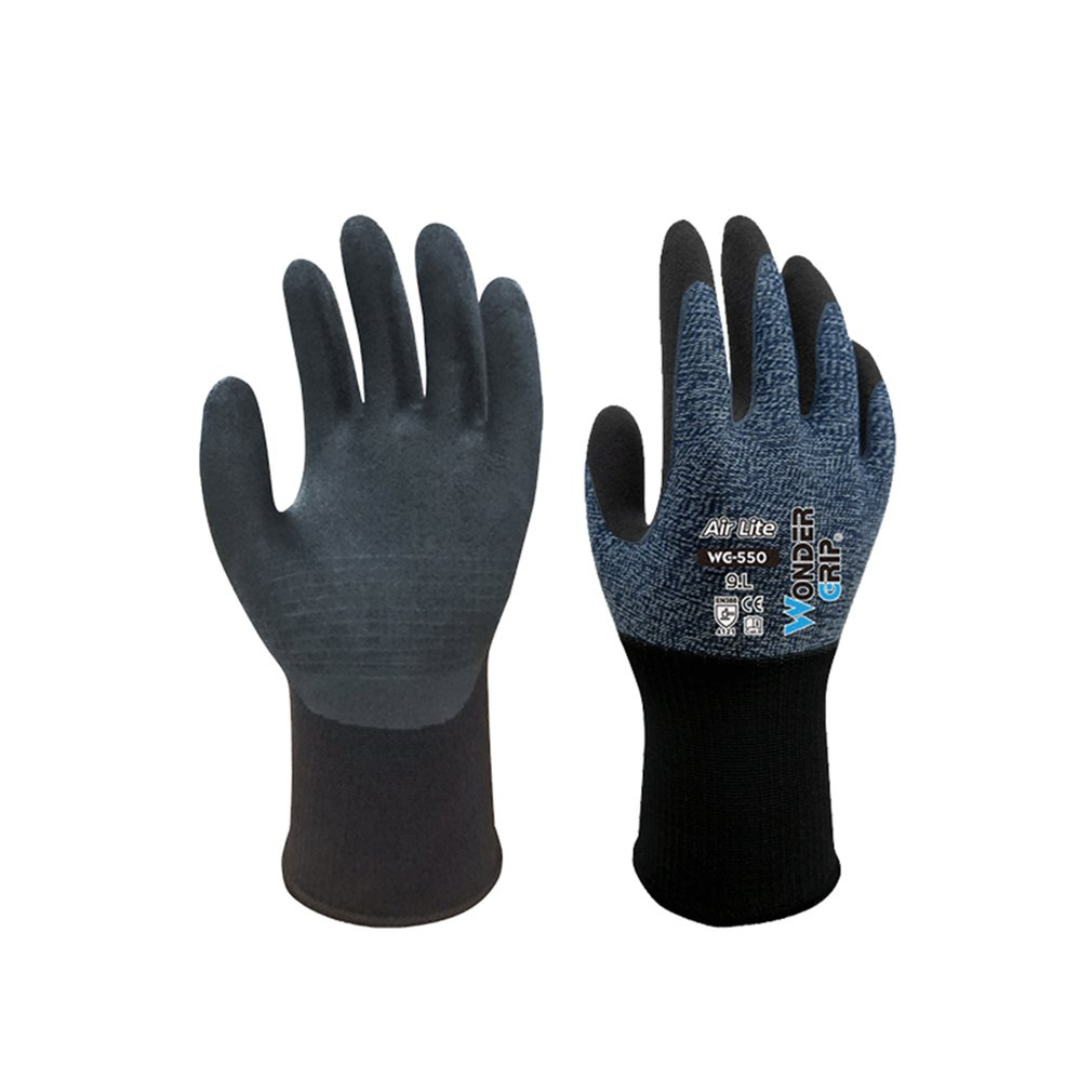 WG-500 Garden Safety Glove Nylon Non-slip Oil-proof And Wear-resistant Nitrile Dipped Labor Insurance Supplies Work Gloves