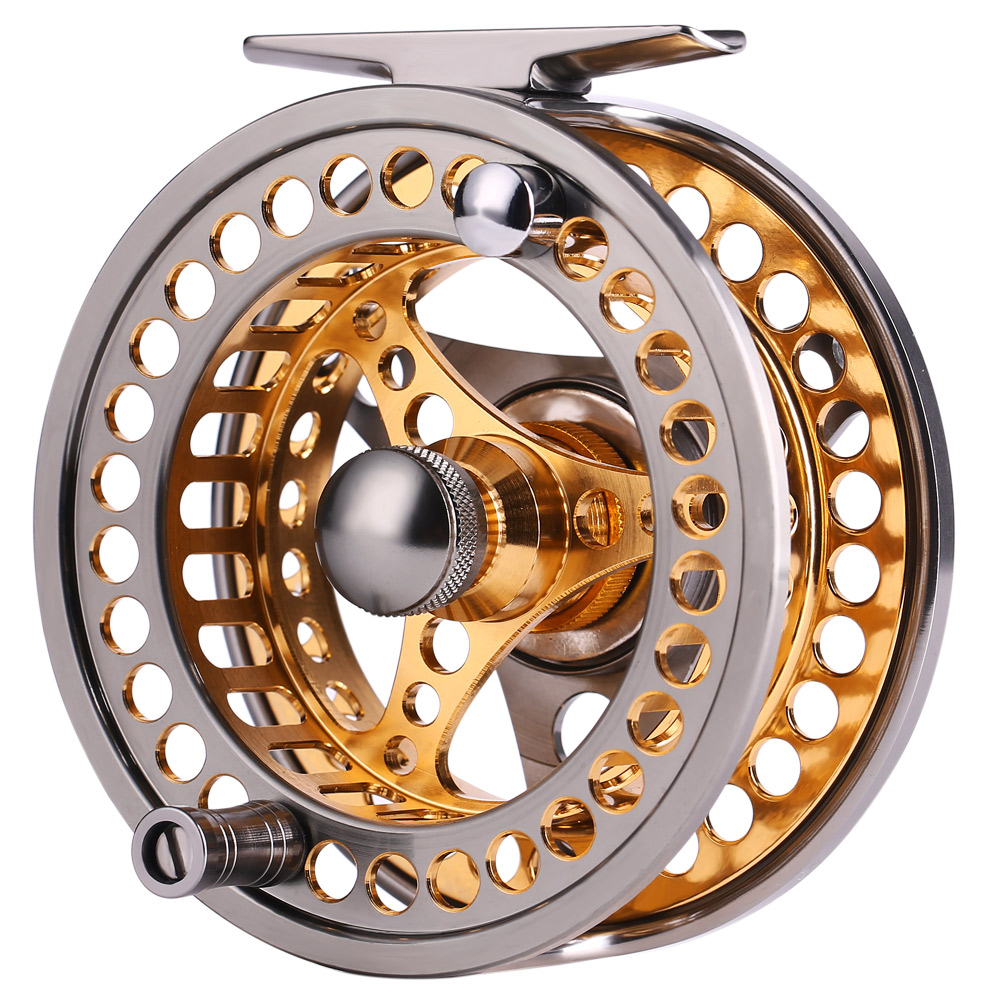 Sougayilang Large Arbor Fly Fishing Reel 2+1 BB High Die Casting Aluminium Alloy Spool Fly Reels Fishing Tackle 8