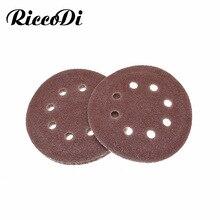 5 10 Stuks 5 Inch 125 Mm Ronde Schuurpapier Acht Gat Disk Zand Dremel Lakens Grit 40 2000 klittenband Schuren Grinder Disc Polish