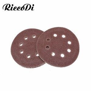 Image 1 - 5 10pcs 5 Inch 125mm Round Sandpaper Eight Hole Disk Sand Dremel Sheets Grit 40 2000 Hook and Loop Sanding Grinder Disc Polish