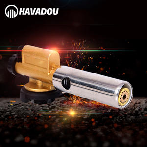HAVADOU Electronic Ignition Welding Torch Flame Butan Gas Head Use for Outdoor Camping BBQ& Cooking Welding Equipment Spray G