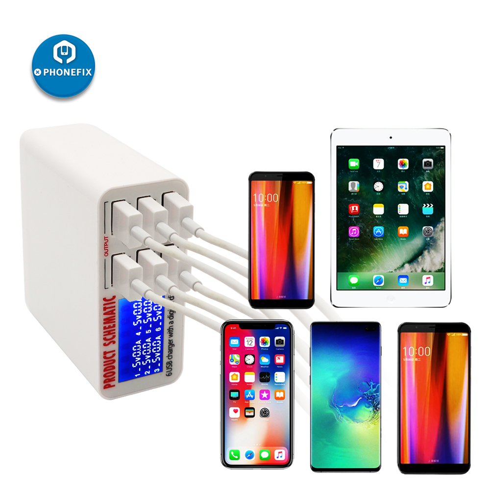 Multiport USB Charging Station EU US UK Plug Fast Charger Mobile Phone Quick Charge Station for iPhone iPad