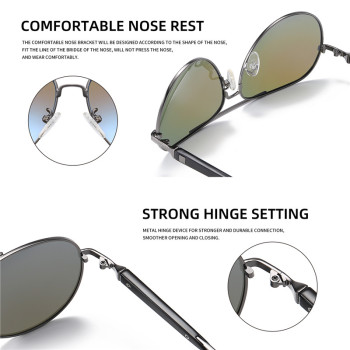 AOFLY BRAND DESIGN Pilot Sunglasses Men Polarized Metal Frame Anti-Glare Mirror Lens 2020 Fashion Fishing Sun Glasses Male UV400 8