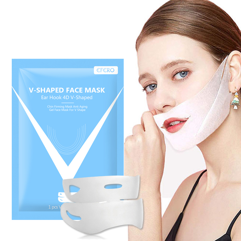 EFERO 4D Double V Face Shape Tension Firming Mask Paper Slimming Eliminate Edema Lifting Firming Thin Masseter Face Care Tool