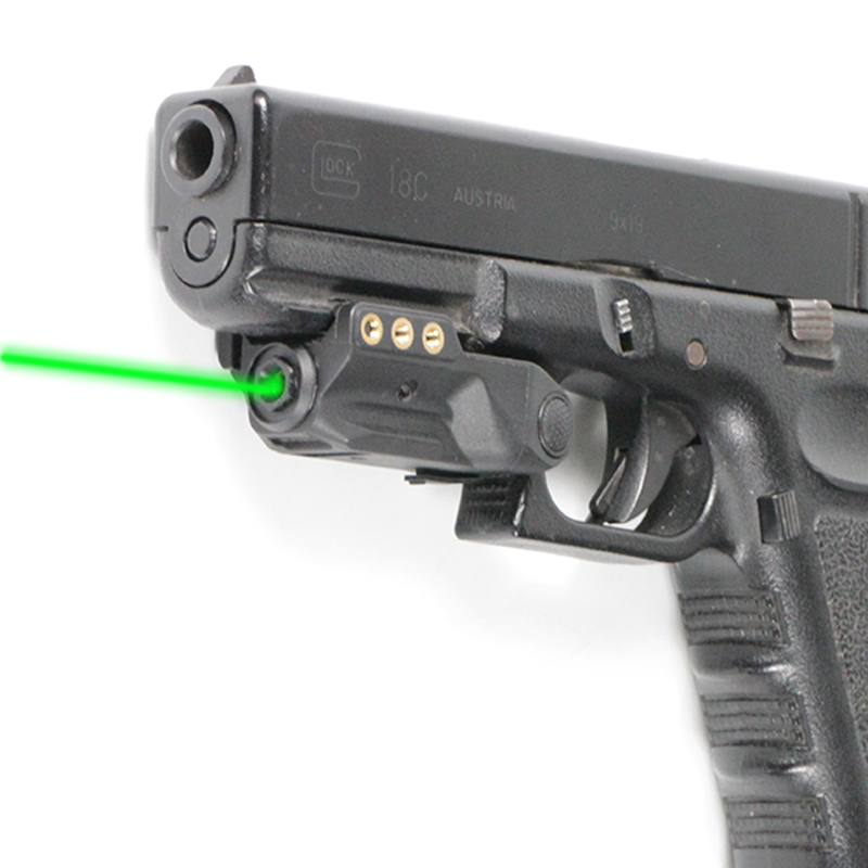 Micro Glock Laser Green LS-L9 FRN Lightweight Green Laser Pointer For Real Gun Pistol With Type-C Charger