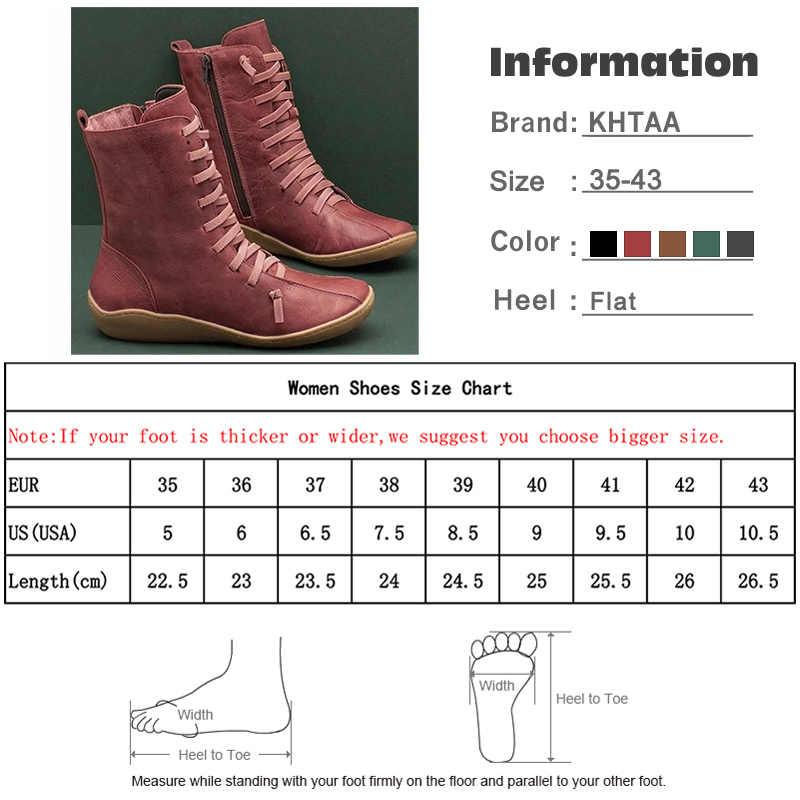 Hot New Nữ Mắt Cá Chân Giày Nữ Dây Kéo Thời Trang PU Giày Nữ Phối Ren Mềm Mại Dưới Người Phụ Nữ Phẳng Thoải Mái Nữ giày Plus Kích Thước