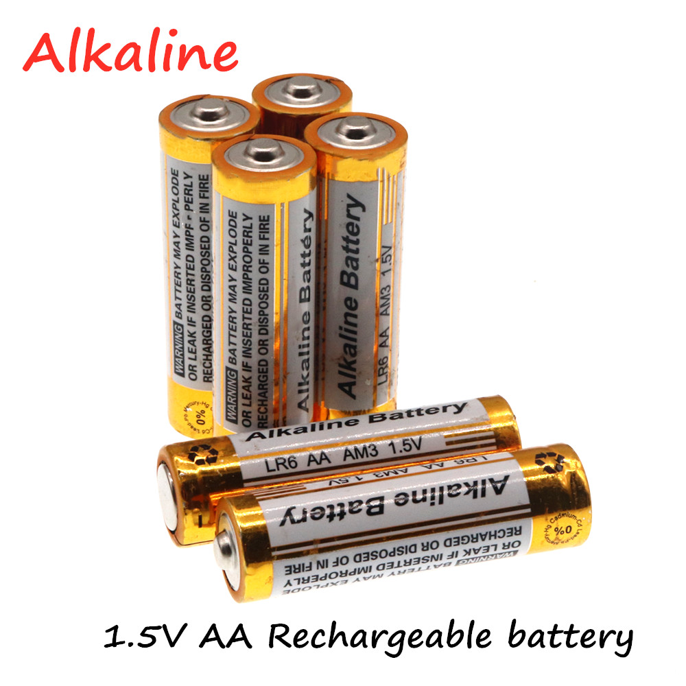 New Original Brand AA Rechargeable Battery 4000mah 1.5V New Alkaline Rechargeable Battery For Led Light Toy Mp3 Free Shipping
