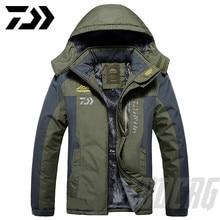 Новинка, Толстая куртка для рыбалки DAWA, зимняя водонепроницаемая одежда для рыбалки, Мужская теплая флисовая куртка для велоспорта и рыбалки, более размера d, размер M-9XL