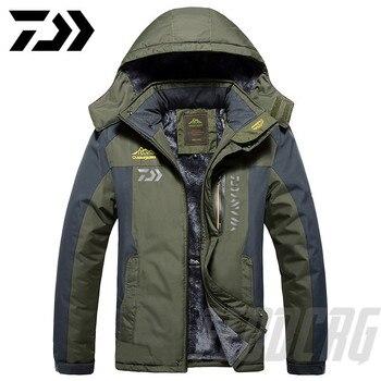 Новинка 2020, Толстая куртка для рыбалки DAWA, зимняя водонепроницаемая одежда для рыбалки, Мужская теплая флисовая куртка для велоспорта и рыб...