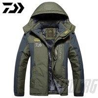 2020 nova dawa grosso jaqueta de pesca inverno à prova dwaterproof água roupas de pesca dos homens quente velo ciclismo casaco de pesca tamanho grande M 9XL|Roupas de pesca| |  -