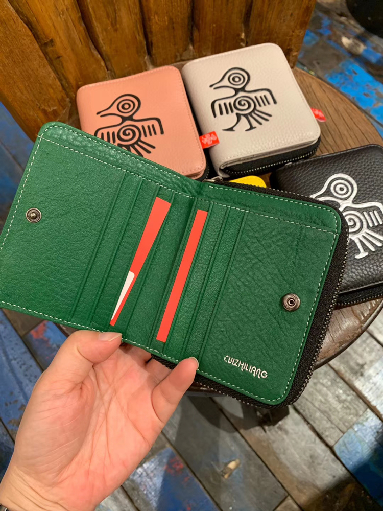 Image 2 - Orabird Genuine Leather Women Short Wallets Card Holder Cute  Purse Ladies Luxury Small Wallet for Cards Money Bag 2019Wallets   -