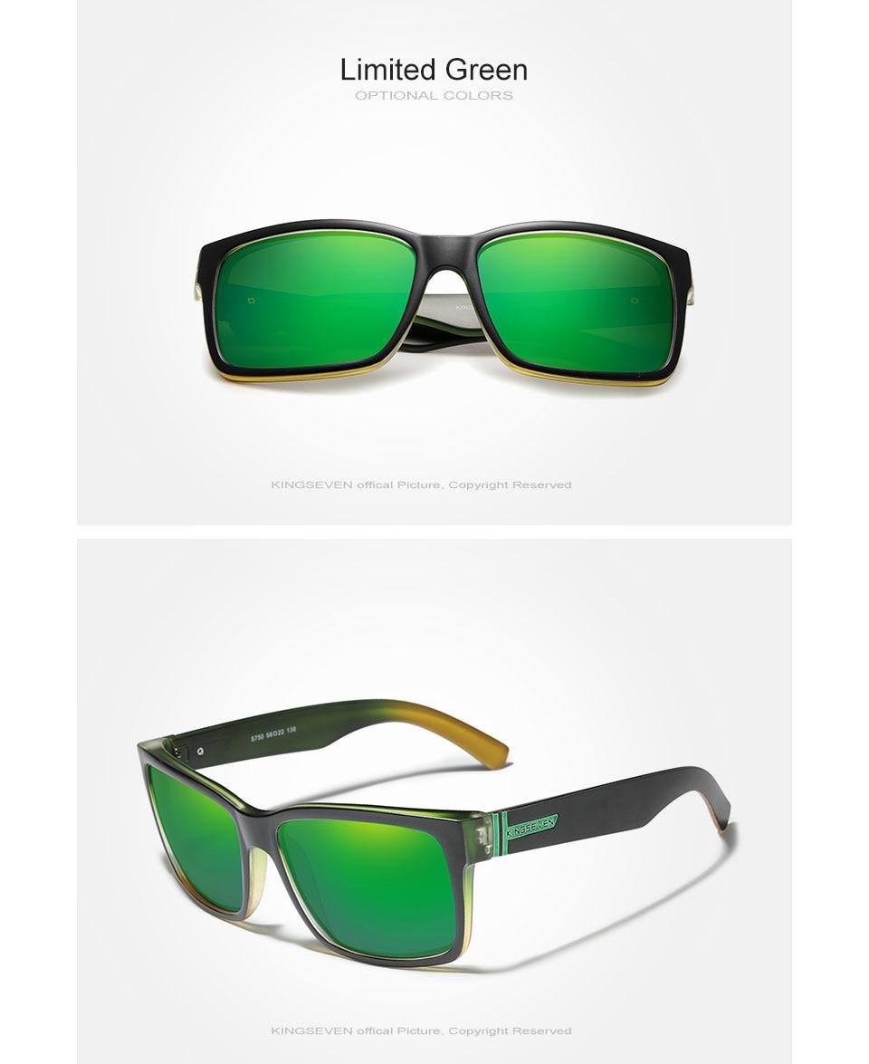 KINGSEVEN Men's Polarized Sunglasses Mirror Eyewear Sun glasses Men Goggle lunette de soleil