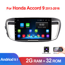 "10.1"" 2 Din Android 9.1 Autoradio For Honda Accord 9 2014 2015 2016 2017 Car Radio GPS Navigation Touch Screen Multimedia Video(China)"