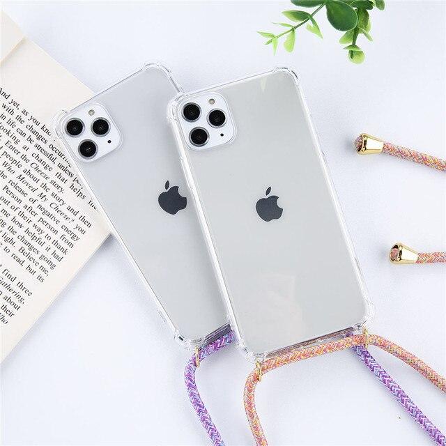 Bracelet Chaîne De Cordon Téléphone Ruban Collier Lanière Étui pour Téléphone Portable pour Transporter Housse Accrocher iPhone 11 Pro XS Max XR X 6 6S 7 8Plus