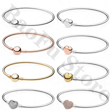 Bracelet Original Women 100%925-Sterling-Silver with Love-Logo Limited-Edition Suitable