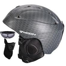 MOON скейтборд снег лыжный сноуборд шлем интегрально-Формованный Сверхлегкий дышащий Лыжный шлем CE сертификация S/M/L/XL