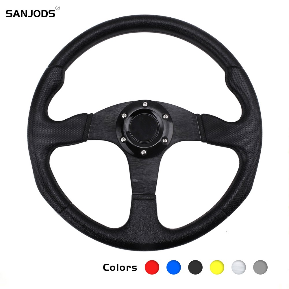 Universal Sports Steering Wheel JDM Modified Car Steering Wheel 13 14 Inch 320 350mm Aluminum Moving Rudder also fit Racing Game