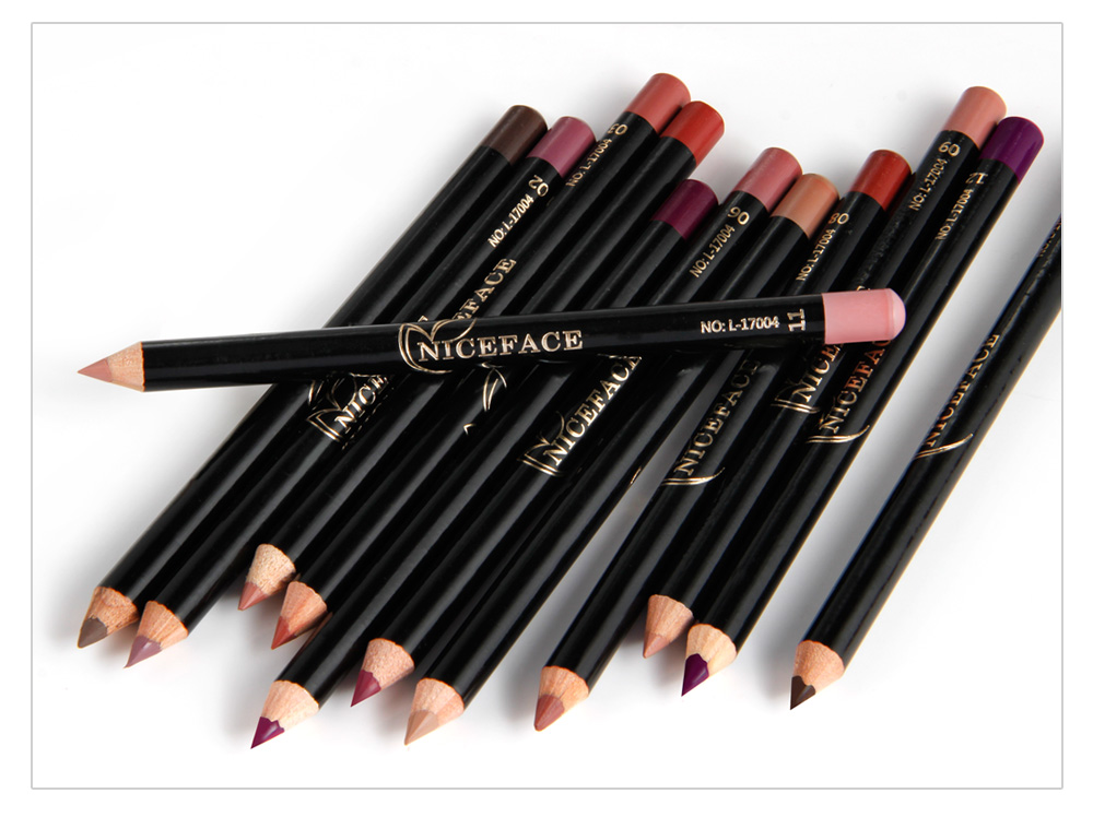12 Colors Lip Pencils Matte Lipliner Waterproof Smooth Colorful Silk Nude Lipstick Pen Long Lasting Pigments Lip Makeup TSLM1