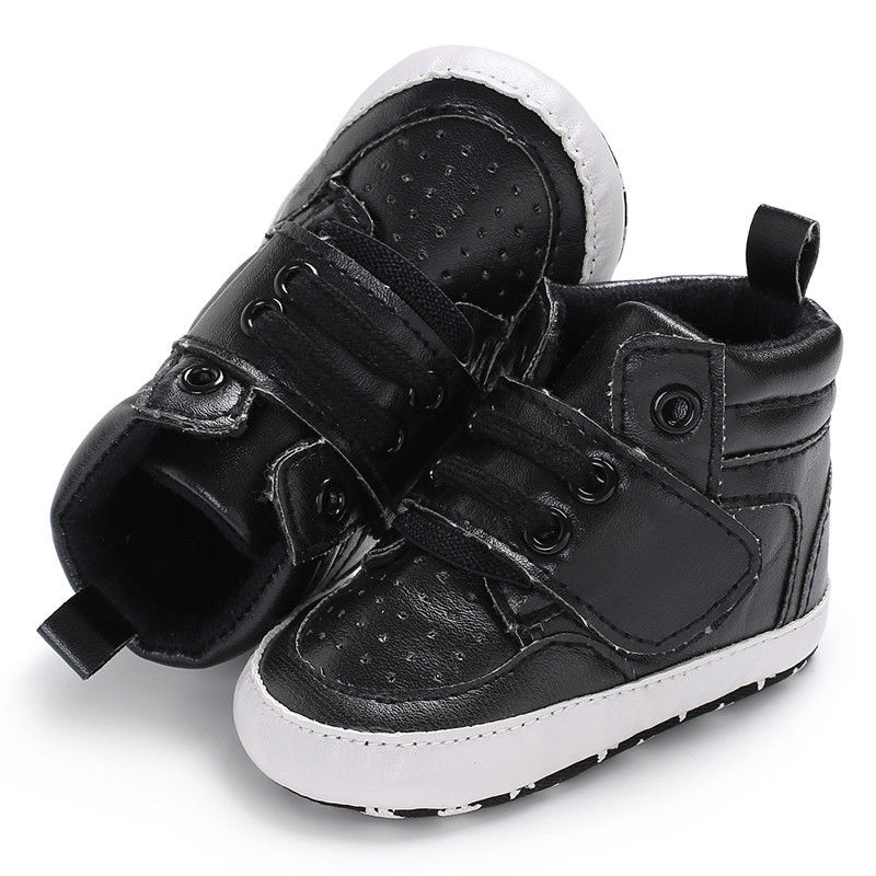 For Baby And Toddler's Cool Contrast Letter Print Velcro Shoes