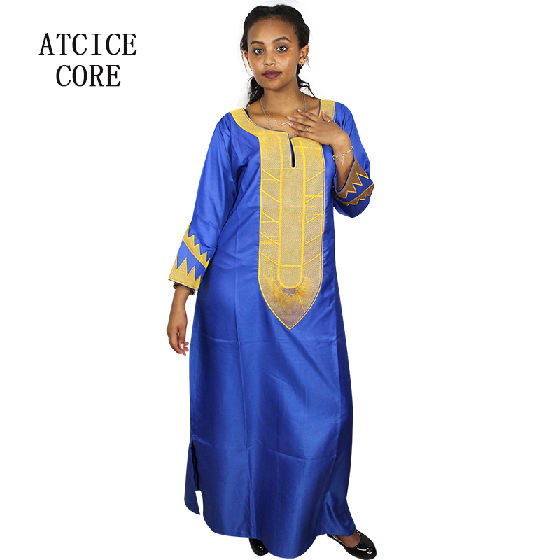 African Fashion Design Soft Silk Material Embroidery Design Dress Long Dress A226 Africa Clothing Aliexpress