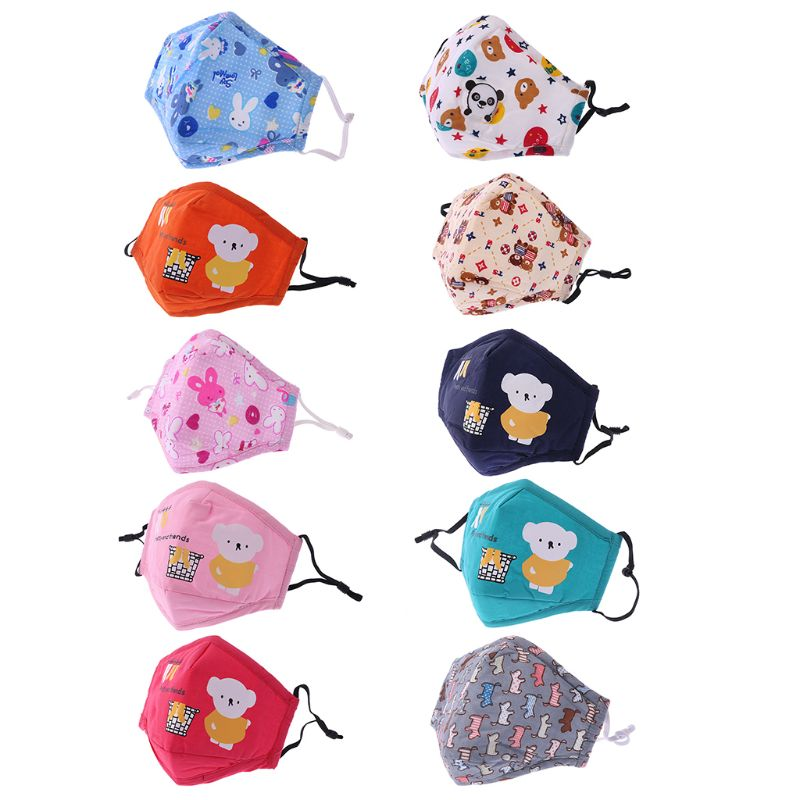 PM2.5 Kids Cotton Mouth-Muffle Face Nose Mask With Filter Respirator Anti-Dust
