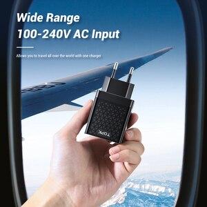 Image 4 - TOPK cargador rápido de teléfono móvil, adaptador de carga USB de pared con enchufe europeo para iPhone, Samsung y Xiaomi, 18W, 3,0