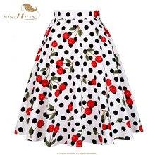 SISHION spódnice vintage kobiet VD0020 jupe femme 2020 wysokiej talii bawełna huśtawka Retro kobiety spódnica czarna chusta faldas spódnica letnia