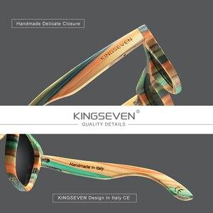 Image 4 - KINGSEVEN 2020 Retro Bamboo Sunglasses Men Women Polarized Mirror UV400 Sun Glasses Full Frame Wood Shades Goggles Handmade