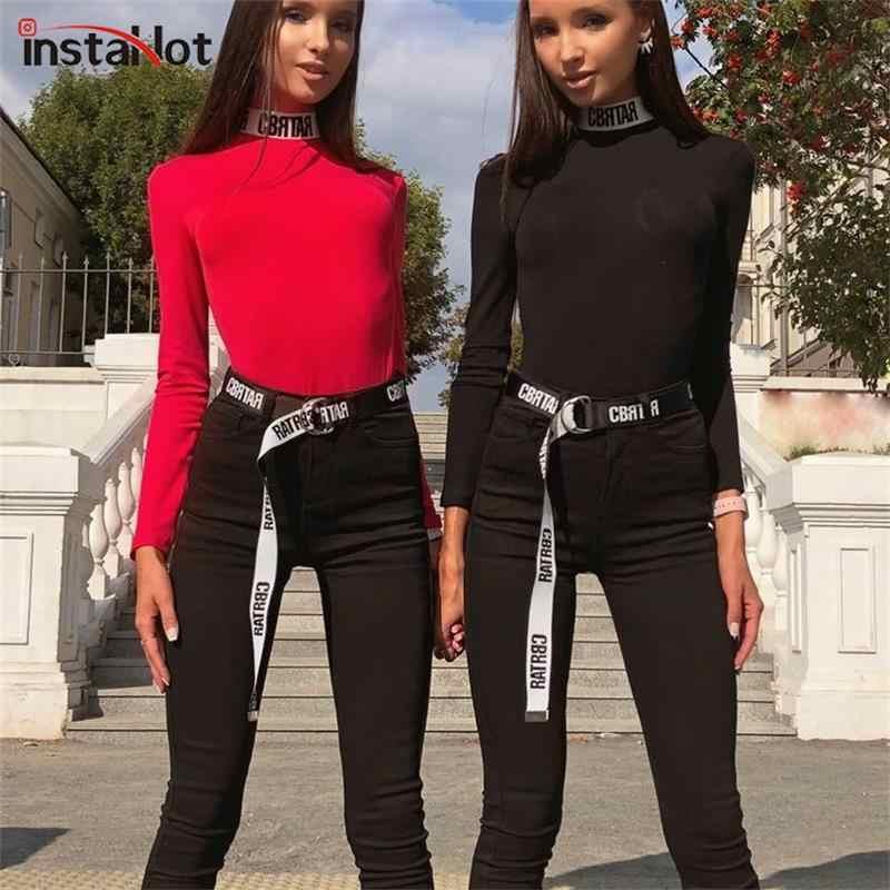 InstaHot 2019 Модный женский ремень с буквенным принтом, крутой Элегантный черно-белый стильный пояс, простой пояс с поясом, популярные офисные женские туфли