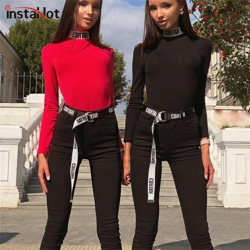 InstaHot Letter Print Fashion 2019   Belt   Women Cool Elegant Black and White Style   Belt   Girdle Simple Sashes Popular Office Lady