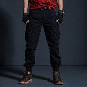 Image 3 - AKSR سروال بنمط هيب هوب للرجال من القطن بنطلون كبير الحجم مرن تكتيكي سراويلي حريمي بنطلون عسكري بنطلون ركض